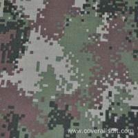 Buy cheap High quality fire retardant blue camouflage fabric from wholesalers