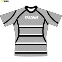 Buy cheap Full dye sublimation custom striped rugby jersey product