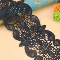 Buy cheap Golden knit 10.5cm wide Milk silk embroidery Polyester Lace LQ012# from wholesalers