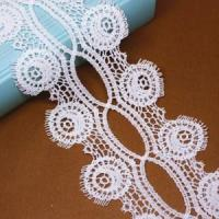 Buy cheap Golden Knit 10cm polyester lace water soluble lace embroidery lace LQ122# from wholesalers