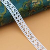Buy cheap Golden knit 1.8cm wide Milk silk Water soluble lace embroidery Polyester Lace LQ095# from wholesalers