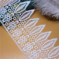 Buy cheap Golden knit 10.3cm wide Milk silk embroidery Polyester Lace LQ287# from wholesalers