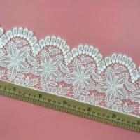 Buy cheap Golden knit 14cm wide Milk silk Water soluble lace embroidery Polyester Lace sy198# from wholesalers