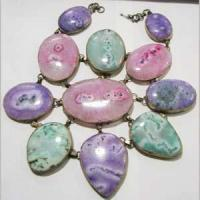 Buy cheap agate stone slice necklace ana00099 from wholesalers