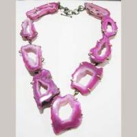 Buy cheap agate stone slice necklace ana00098 from wholesalers