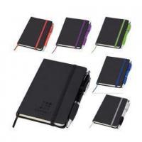 Buy cheap A5 BLACK PU NOTEBOOK WITH ELASTIC CLOSURE product