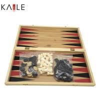 Buy cheap toy series Big 3 in 1 chess game set with wooden box from wholesalers