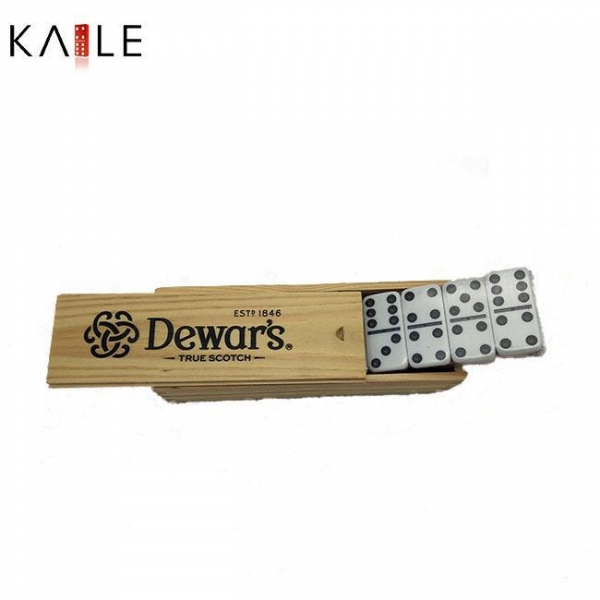Quality toy series Double six domino in wooden box for sale