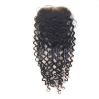 Buy cheap Brazilian Deep Curly Lace Closure from wholesalers