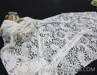 Quality 100% nylon wedding lace with excellet floral pattern LCA10018 for sale