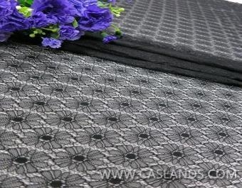 Quality 2014 Hot black color lace fabric for cloths LCA75056 for sale