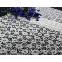 Buy cheap An quietly elegant white flower lace fabric for wedding dress LCA75019 product