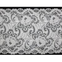 Buy cheap Top quality white elastic lace for wedding LCF46003 product