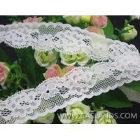 Buy cheap 3.0CM White Lace Ribbon Scalloped Edge LCF23489MN from wholesalers