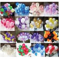 100PCS/OPP bags mixed color round shaped latex balloon