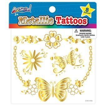 Quality Gold Metallic Tattoos for sale