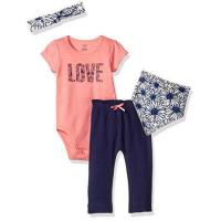 Buy cheap Touched by Nature Baby Organic Layette Set 4-Piece, Daisy, 0-3 Months product