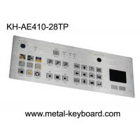 Buy cheap Touchpad 28 Keys Industrial Metal Keyboard , flat matrix / squre buttons product