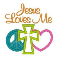 Buy cheap EMBROIDERY DESIGNS Peace (79) Peace Love Cross Applique 4x4 from wholesalers