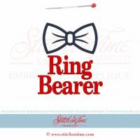 Buy cheap EMBROIDERY DESIGNS 224 WEDDINGBow Tie Ring Bearer Applique 5x7 from wholesalers