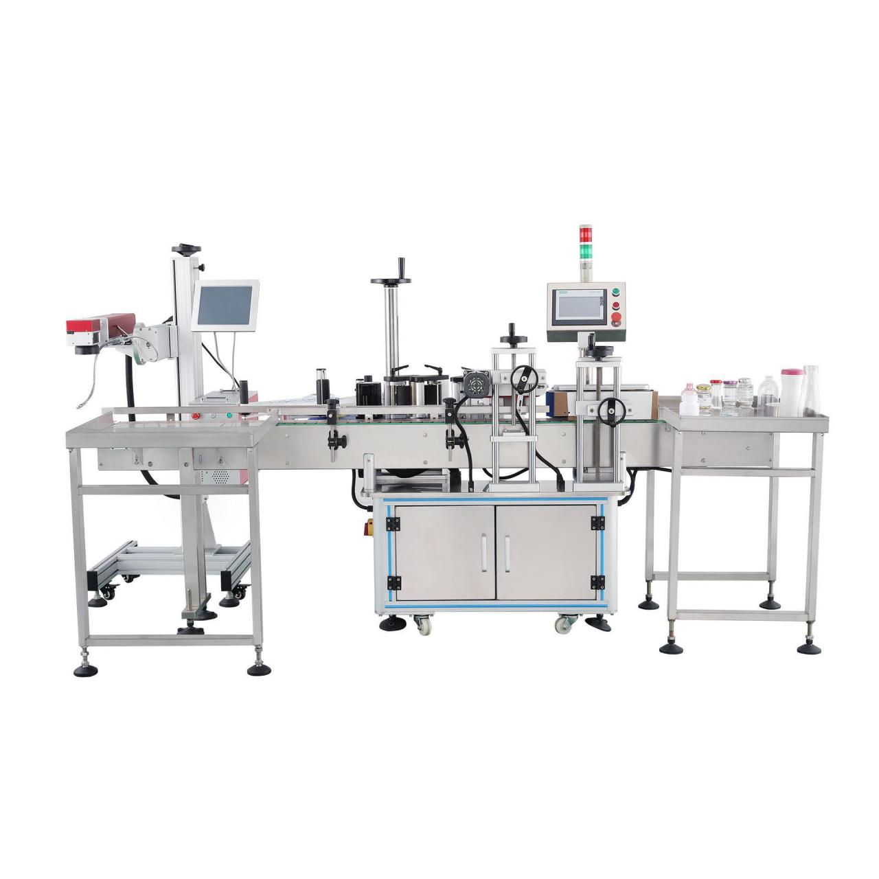 Buy cheap Automatic laser coding round bottle Labeling Machine from wholesalers