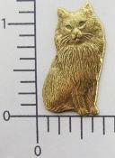 Buy cheap 1 Pc Victorian Sitting Cat Jewelry Finding Brass Oxidized from wholesalers
