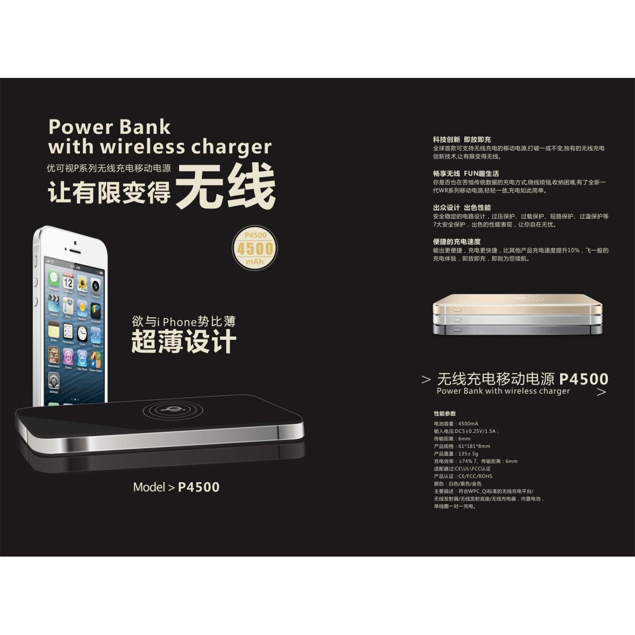 Buy cheap power bank with wireless charger from wholesalers
