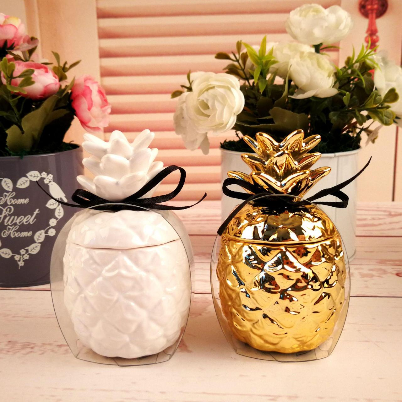 Buy cheap Creative golden pineapple small sweet atmosphere scented candles from wholesalers