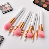 Buy cheap 10pcs white/pink makeup brush set from wholesalers
