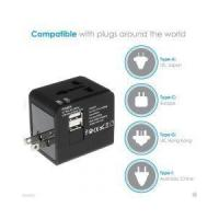 Buy cheap World Travel Adapter Converter With 2.1A Dual USB Charger AU/UK/US/EU Plug product